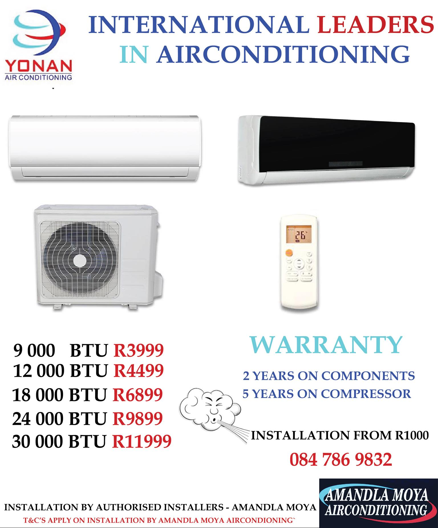 Air Conditioners Yonan High Quality Split Unit Available Specials