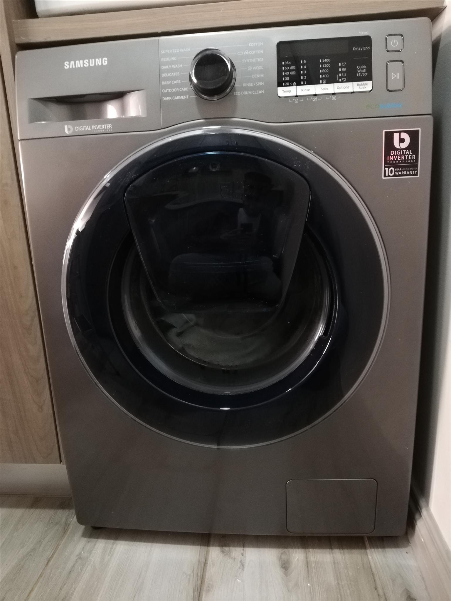 Samsung 9kg Add Wash Washing Machine Digital Inverter Bubble Soak