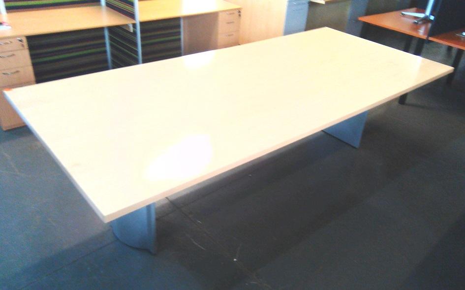8-10 seat maple boardroom table