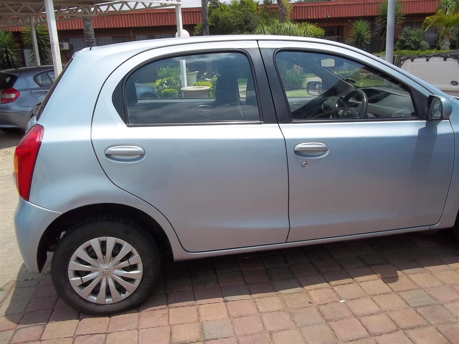 2012 Toyota Etios hatch ETIOS 1.5 Xs/SPRINT 5Dr