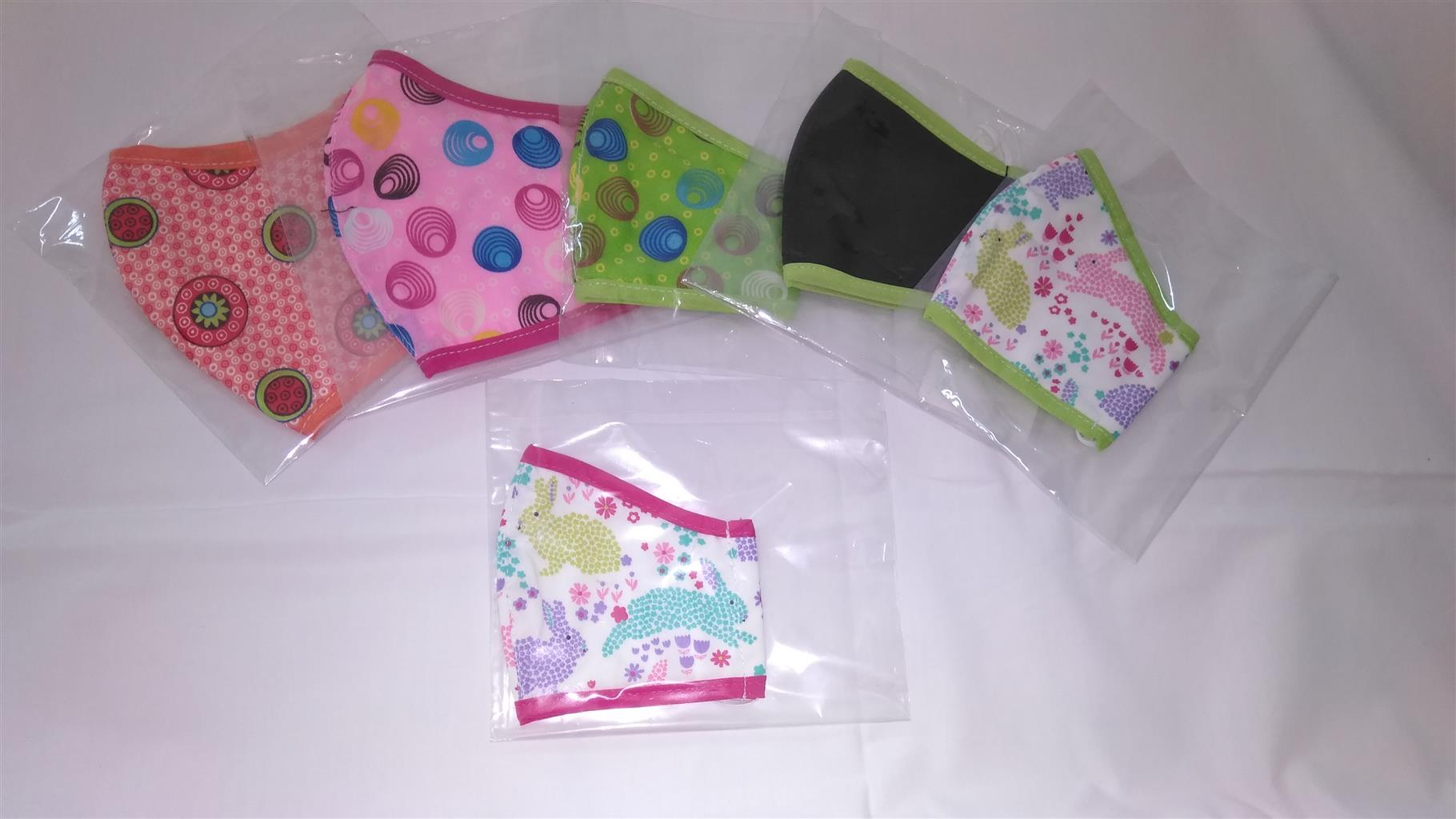 Re-usable 3 Layer Handmade Fabric Face Masks