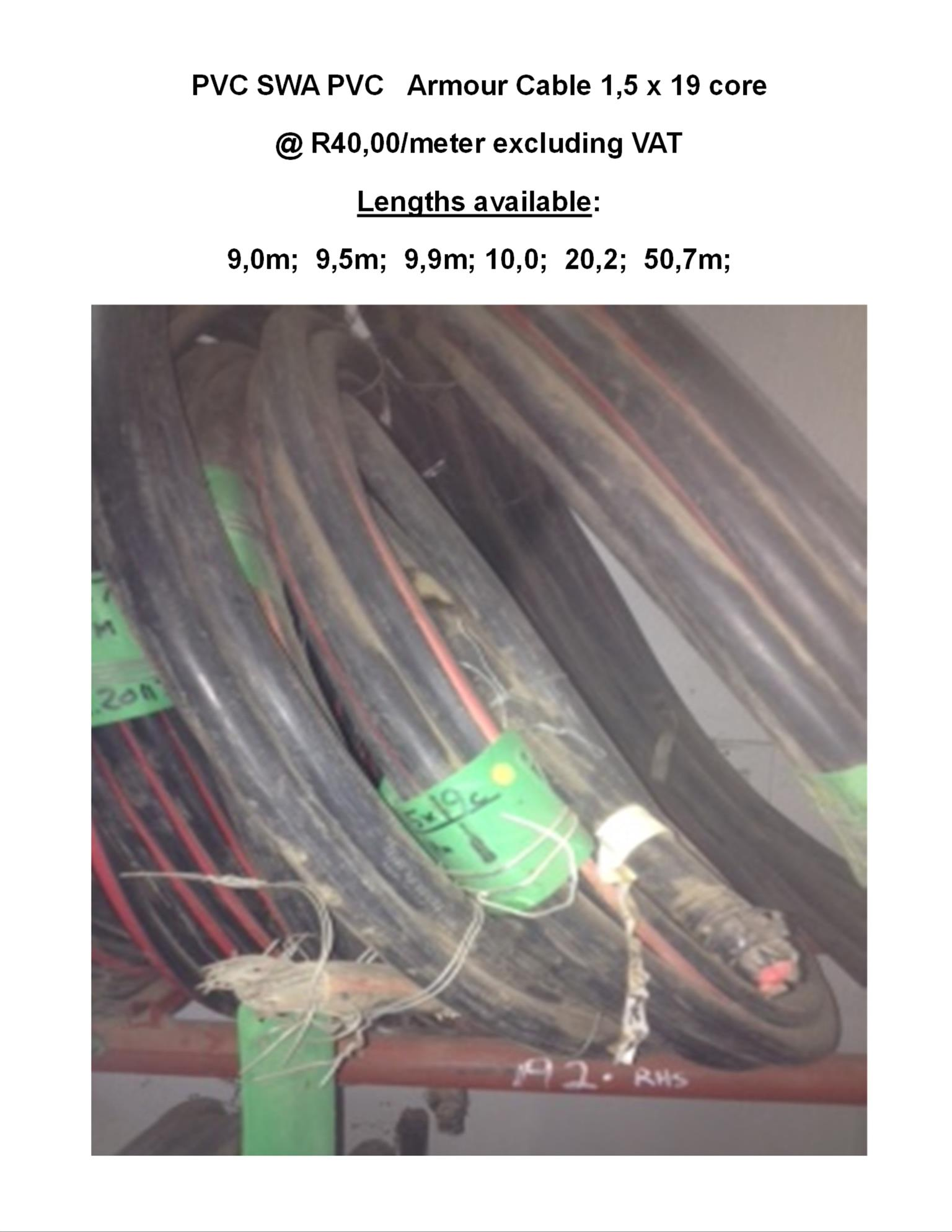 Pvc Swa Armour Cable 15 X 19 Core Junk Mail Armoured Wiring