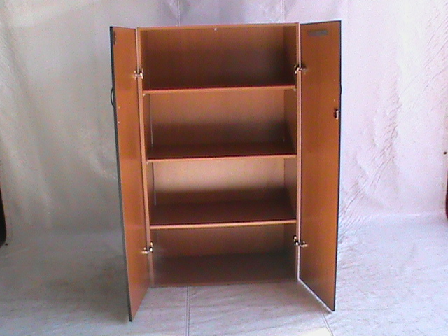 2 Door cabinet with 3 shelves cherry wood