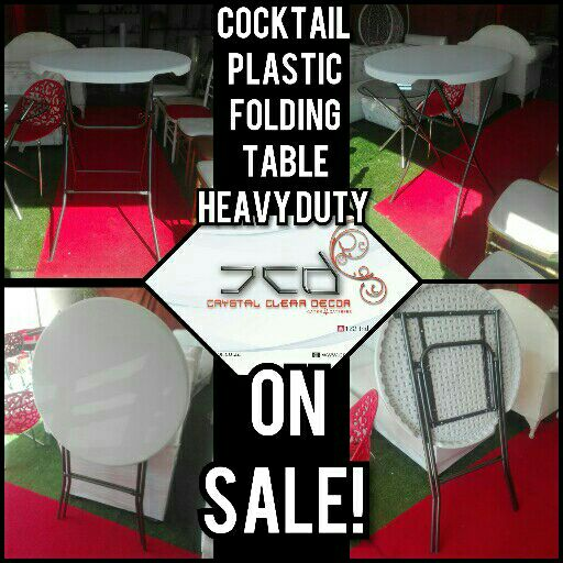 Cocktail Folding Table Plastic