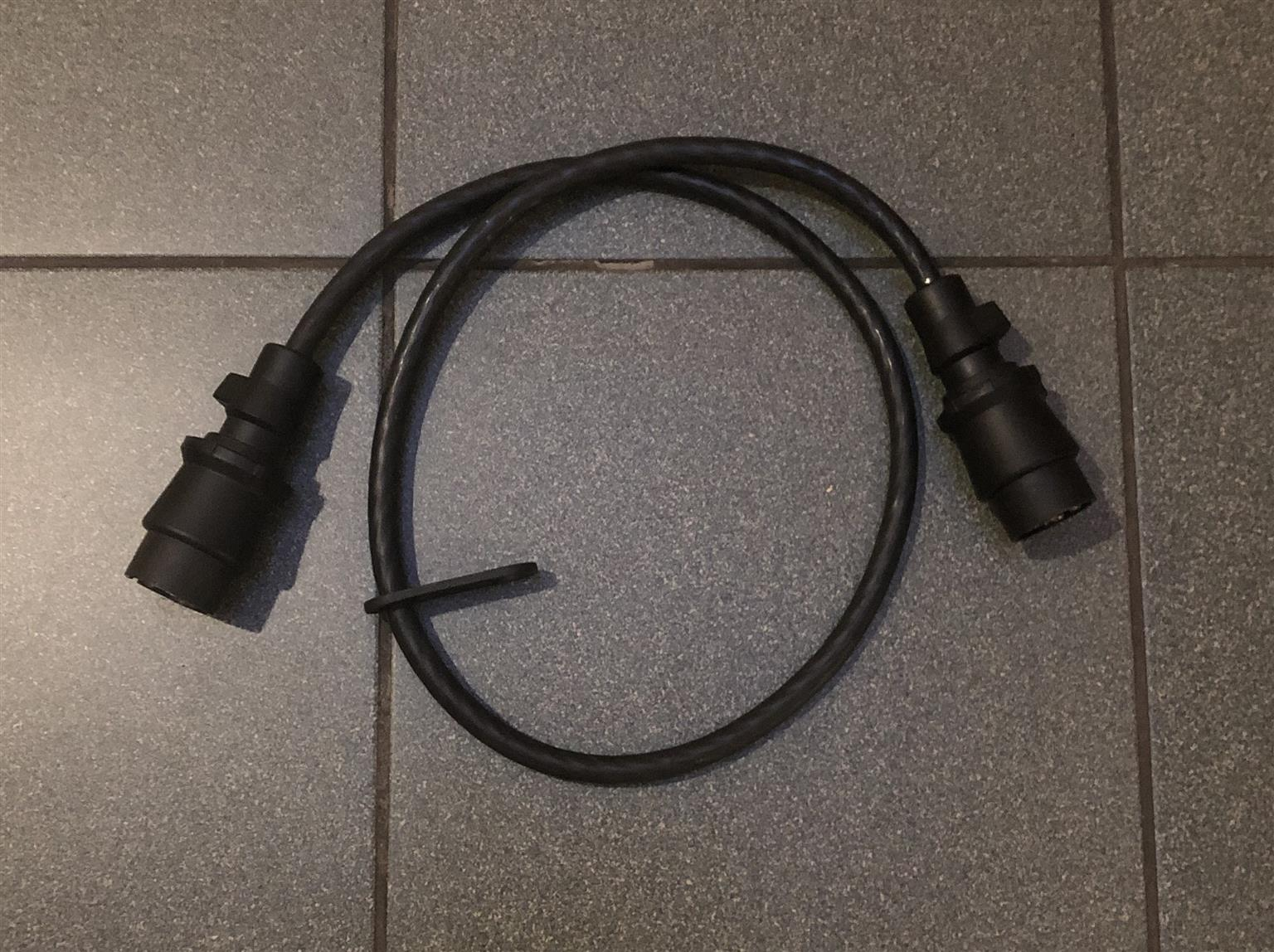 Trailer lights cable male to male South African type