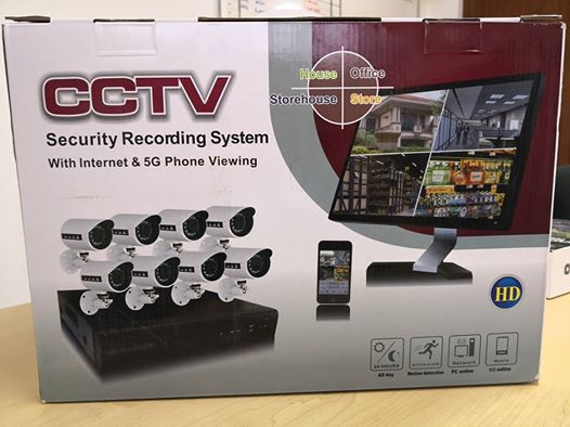 cctv security recording system with internet & 5g phone viewing
