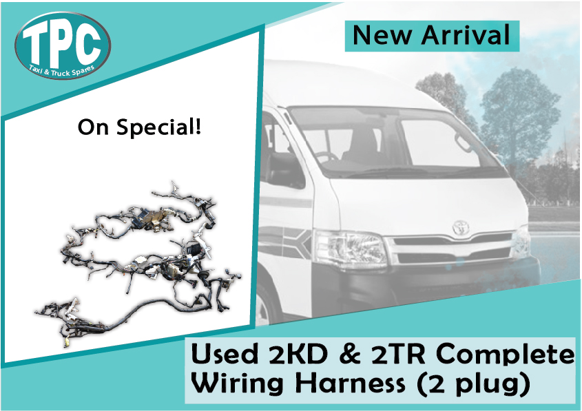 toyota quantum used 2kd & 2tr complete wiring harness (2 plug) for sale at  tpc | junk mail
