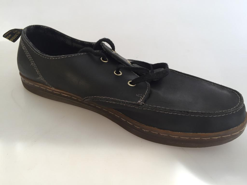 4 Pairs of Gents shoes - size 11 and 12 including Dr Marten and CAT