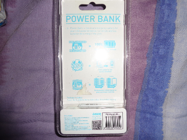 Laser 2200 mah Power bank - Brand New sealed in package