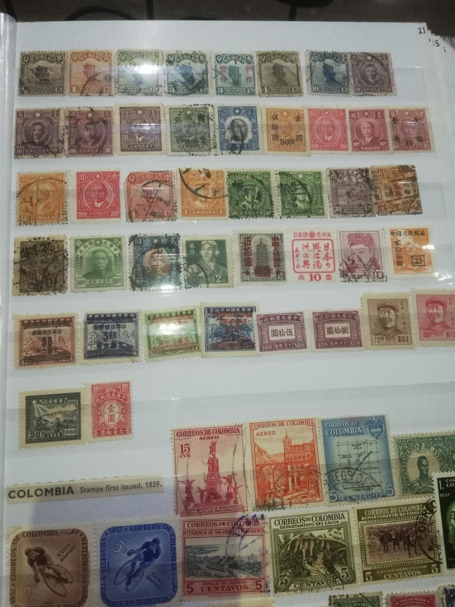 Postal stamps, 8000 some loose. The albums have been sorted into country categories