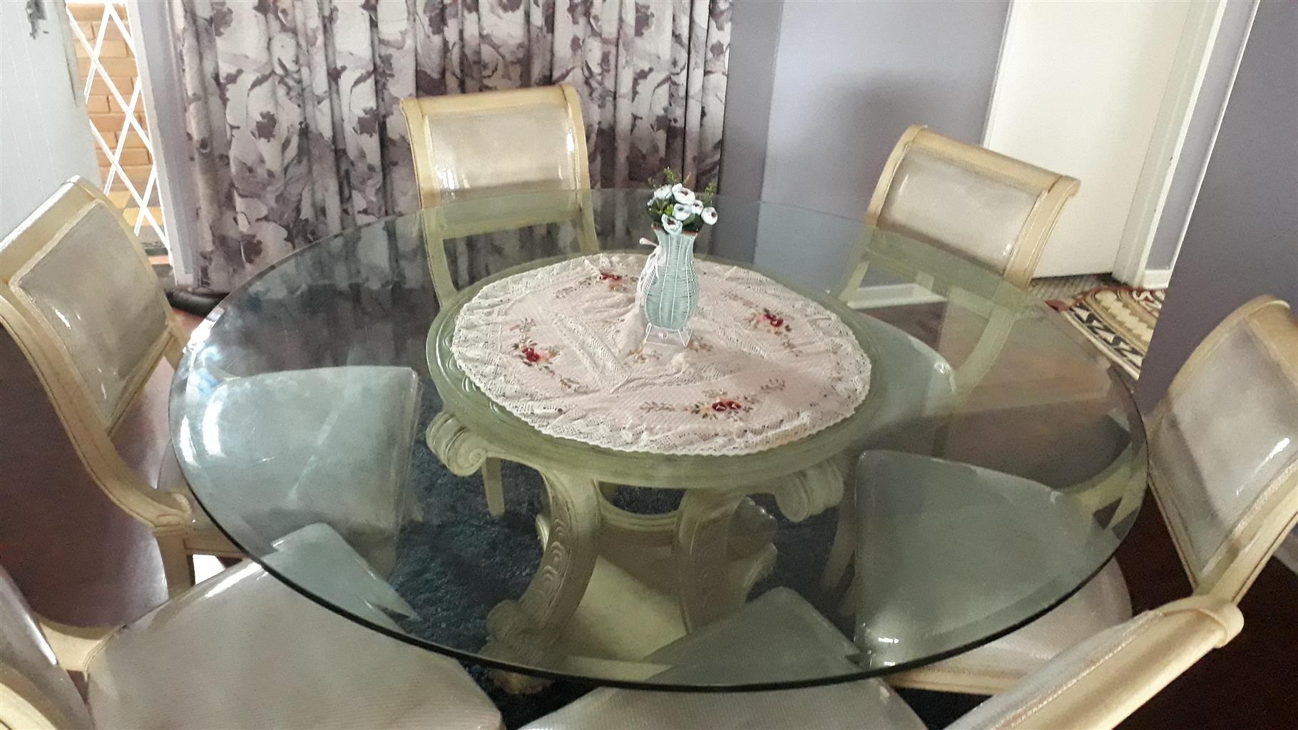 Glass Table Dinning Room Set