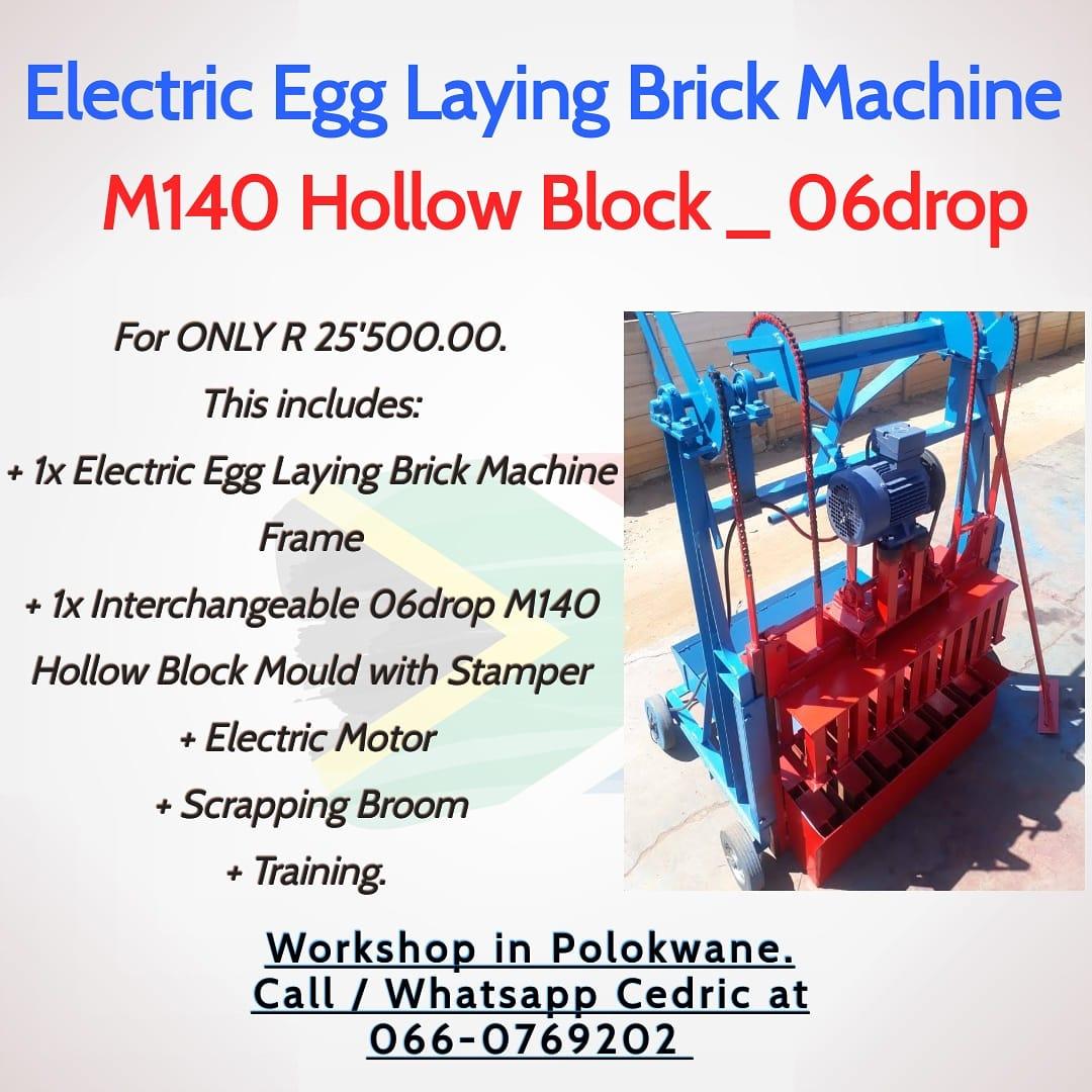 M140 Hollow Block Electric Egg Laying Brick Machine