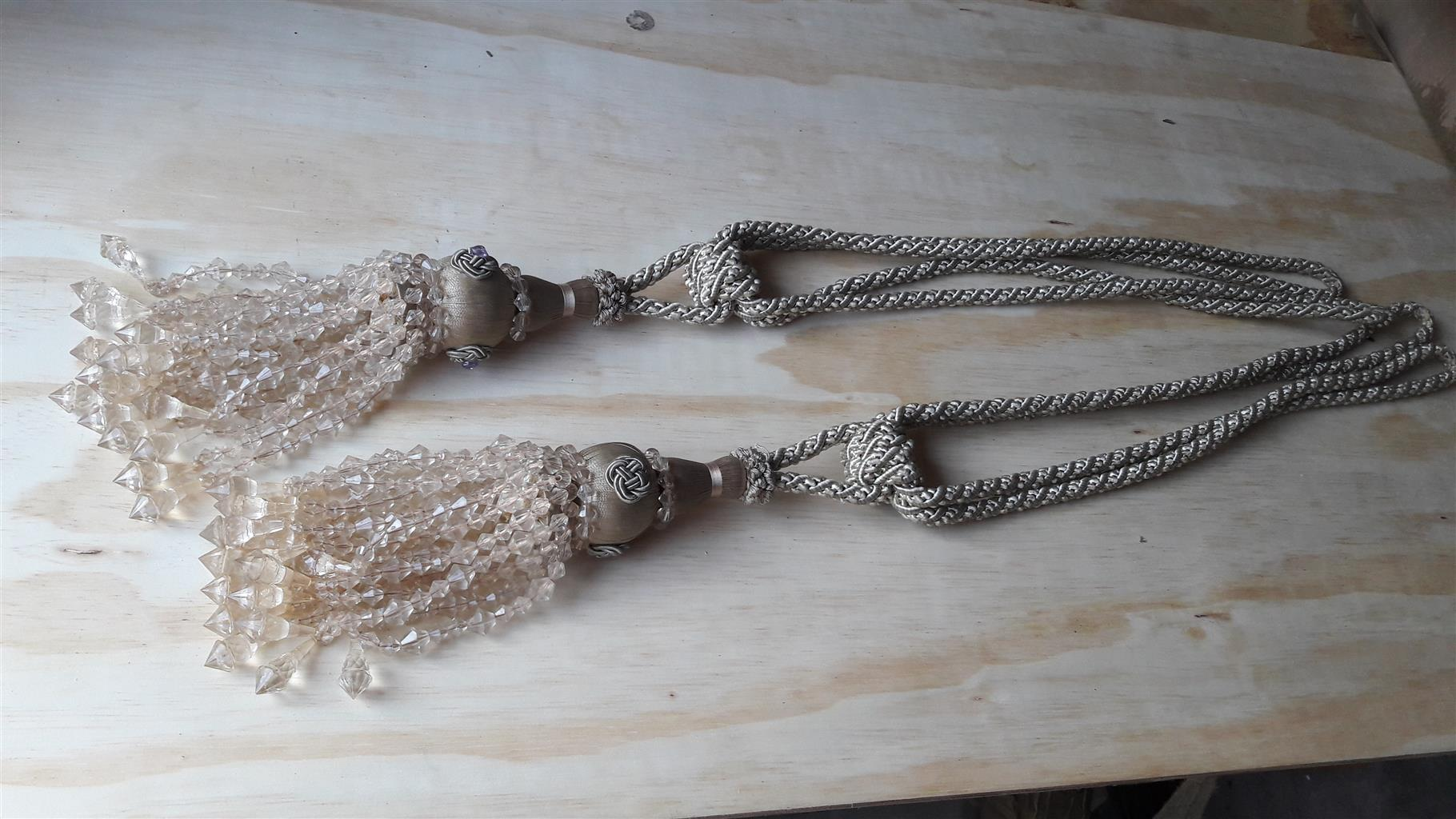2 Beautiful Large Luxury Tassel Curtain Tiebacks