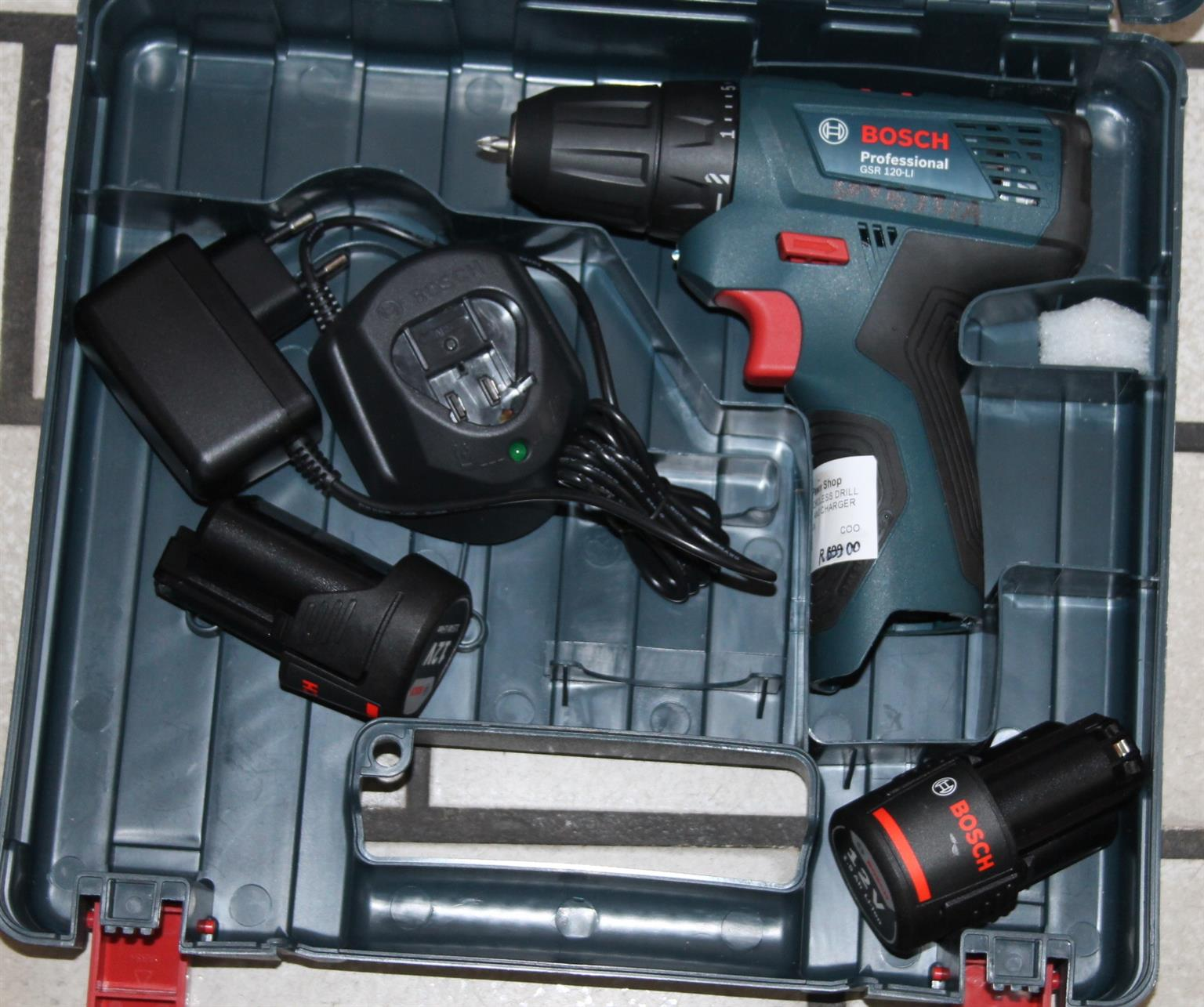 S035321A Bosch grs 120li cordless drill with extra battery and charger #Rosettenvillepawnshop