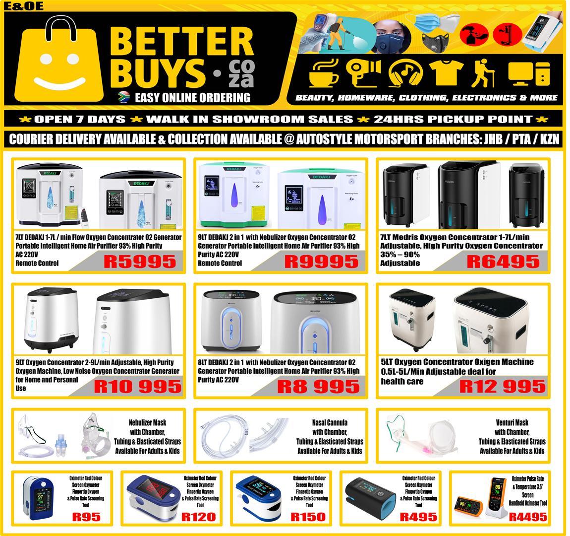 DEDAKJ 1-7L/min Flow Oxygen Concentrator O2 Generator Portable Air Purifier
