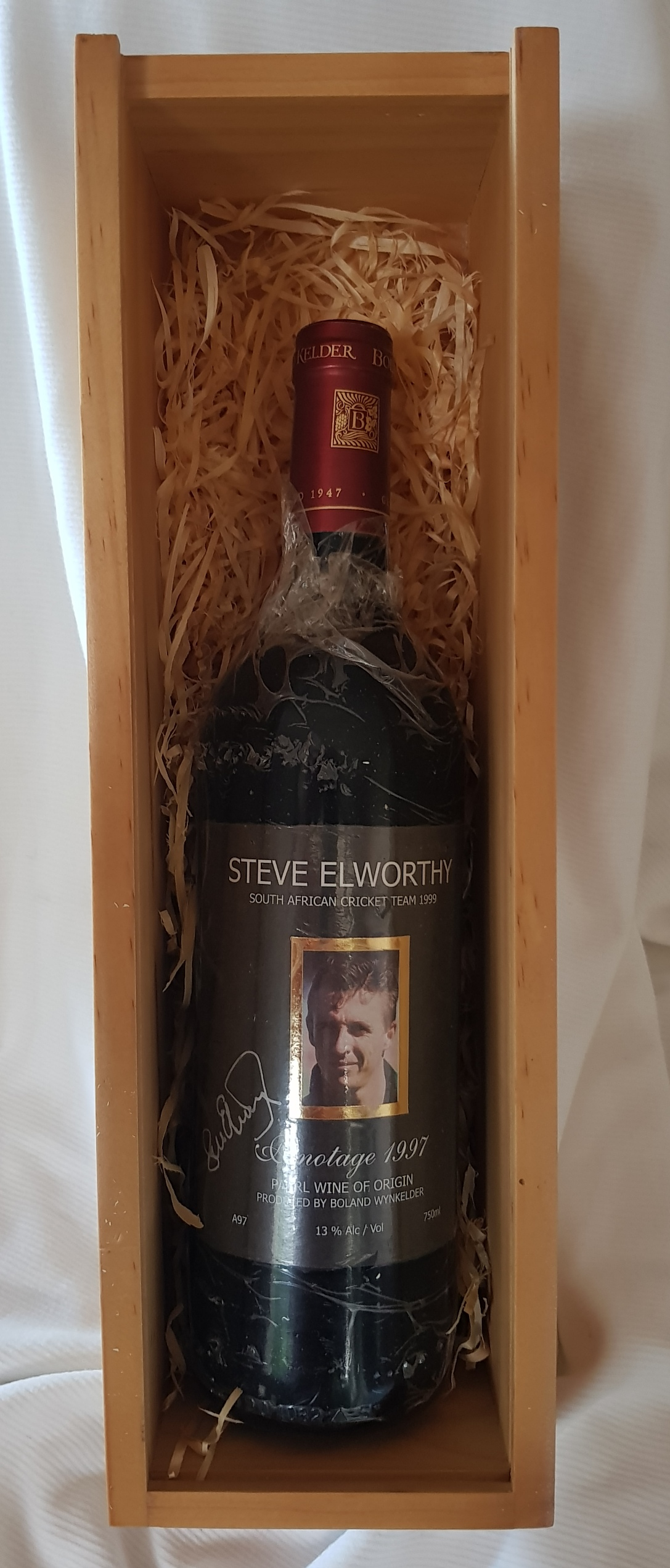 Cricket Protea Memorabilia,  Signed by the Cricket Legend Steve Elworthy