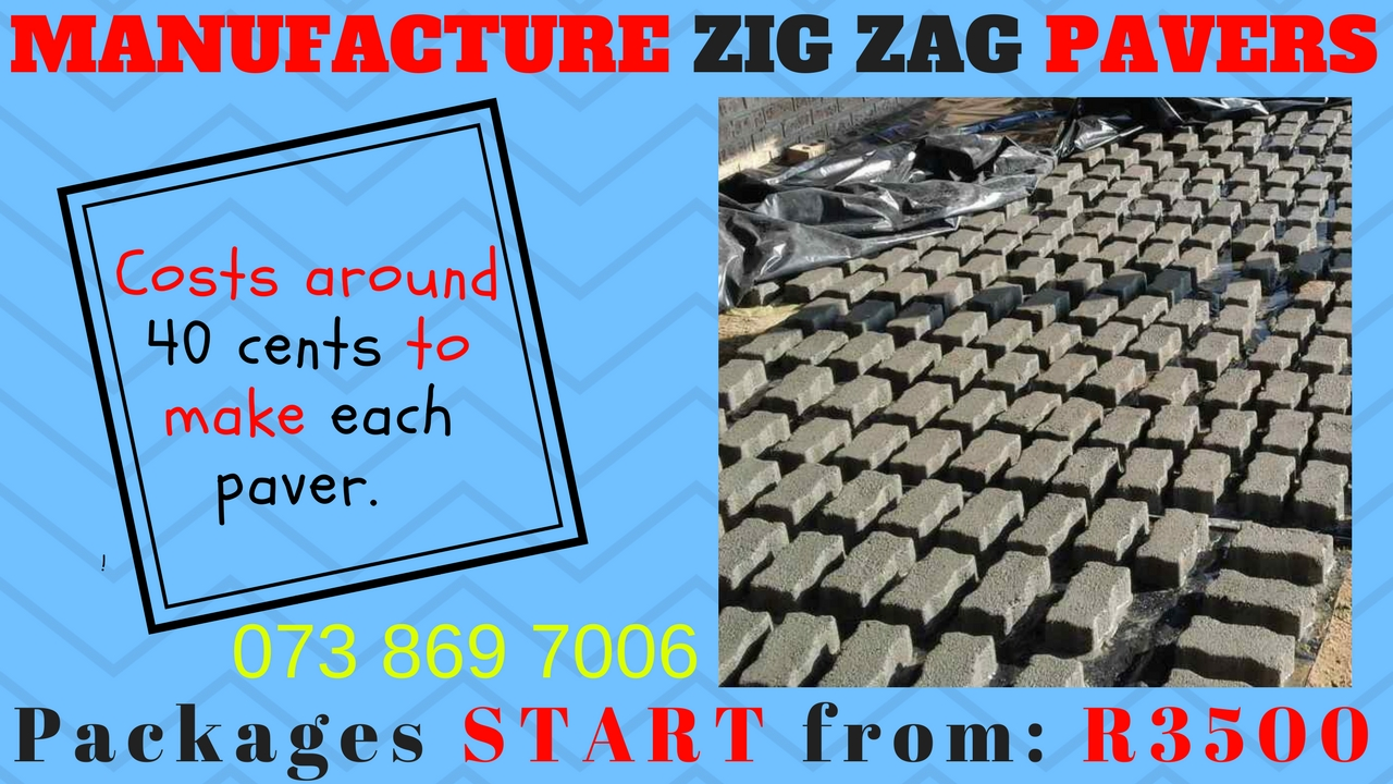 Make your own Zig Zag Paving Bricks - Packages from R3500