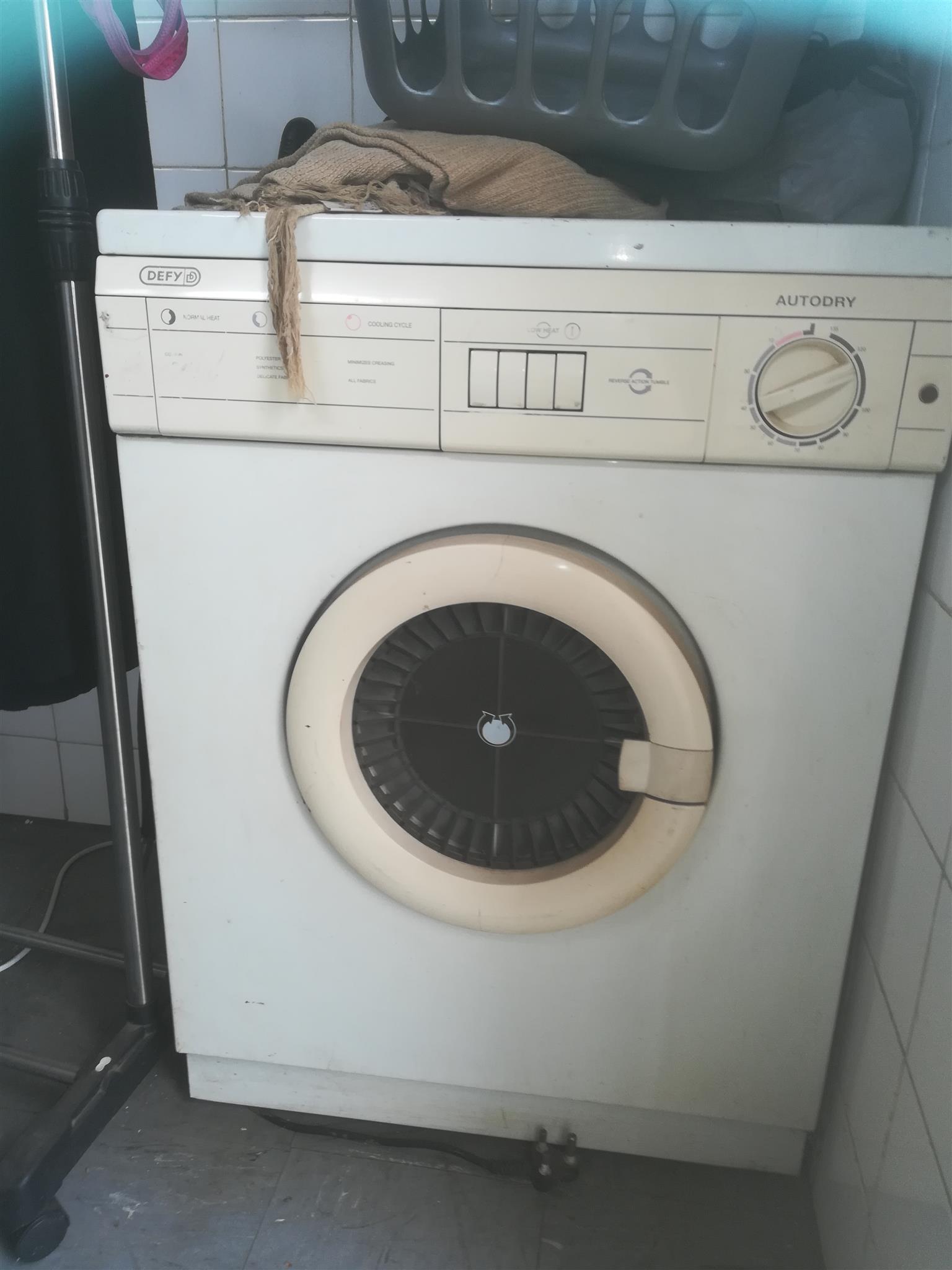 Defy tumble drier needs repairs