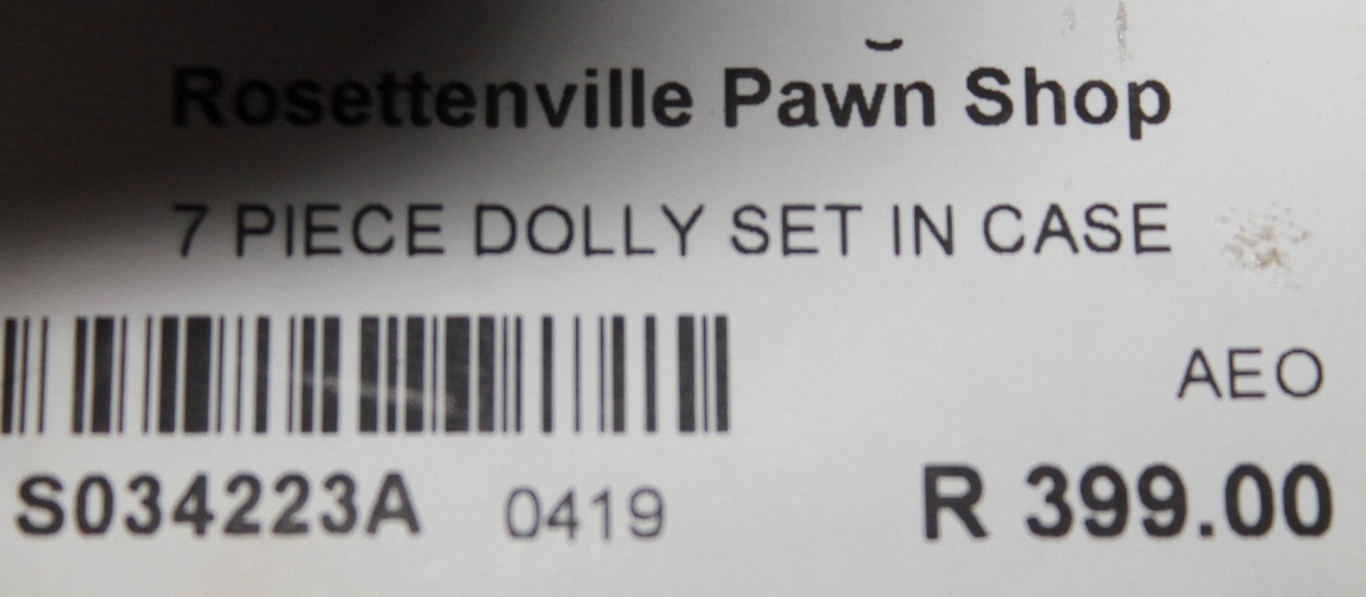 S034223A 7 Piece dolly set in case #Rosettenvillepawnshop