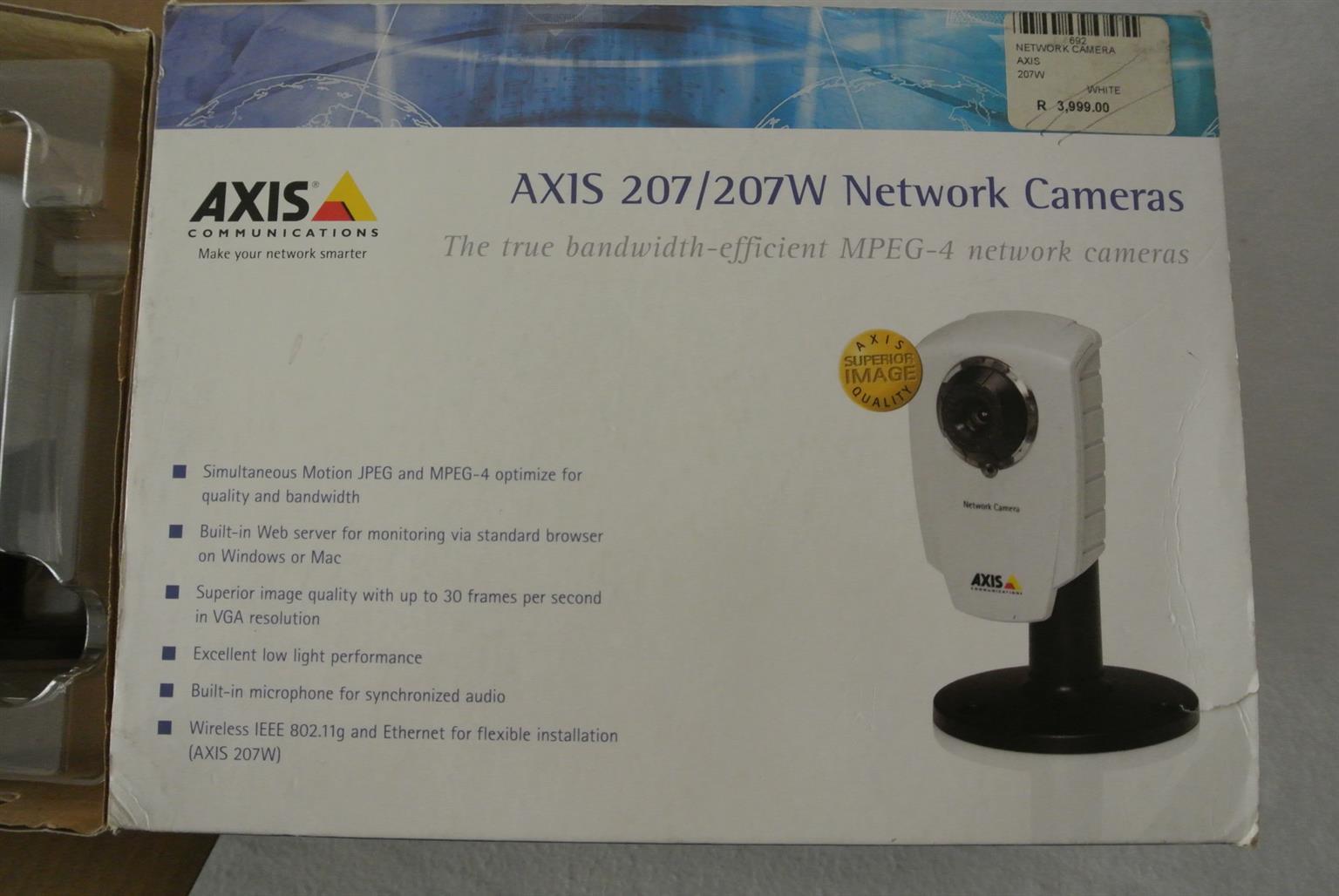 AXIS 207W WIFI IP Network Camara