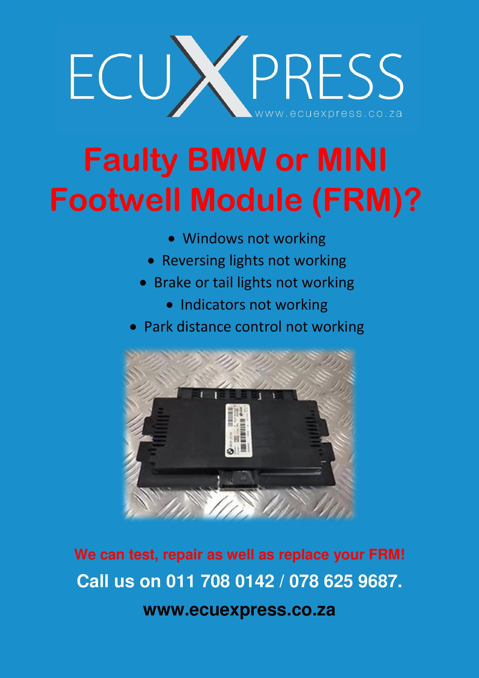 Frm Footwell Module Repairs And Replacements For Bmw Amp Mini Location