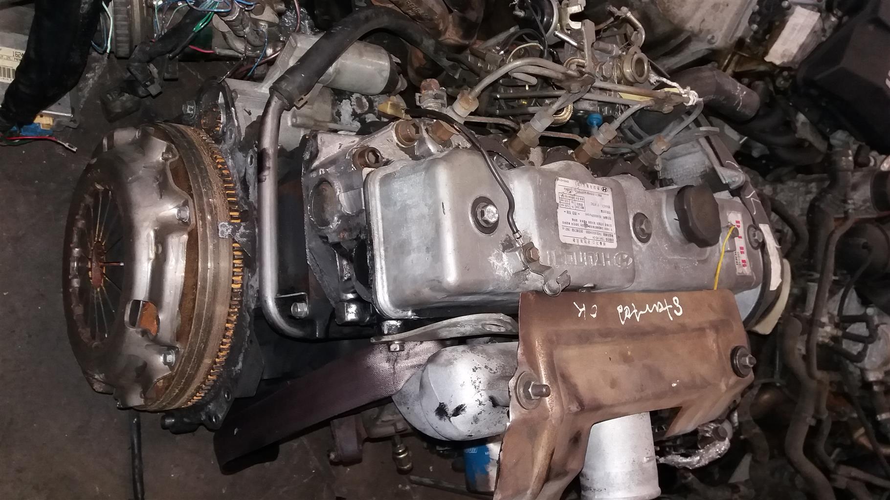 Hyundai H100 2.6 Diesel Engine # D4BB / D4BBW
