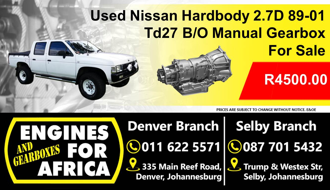 Used Nissan Hardbody 2 7D 89-01 Td27 B/O Manual 5Speed Gearbox For Sale