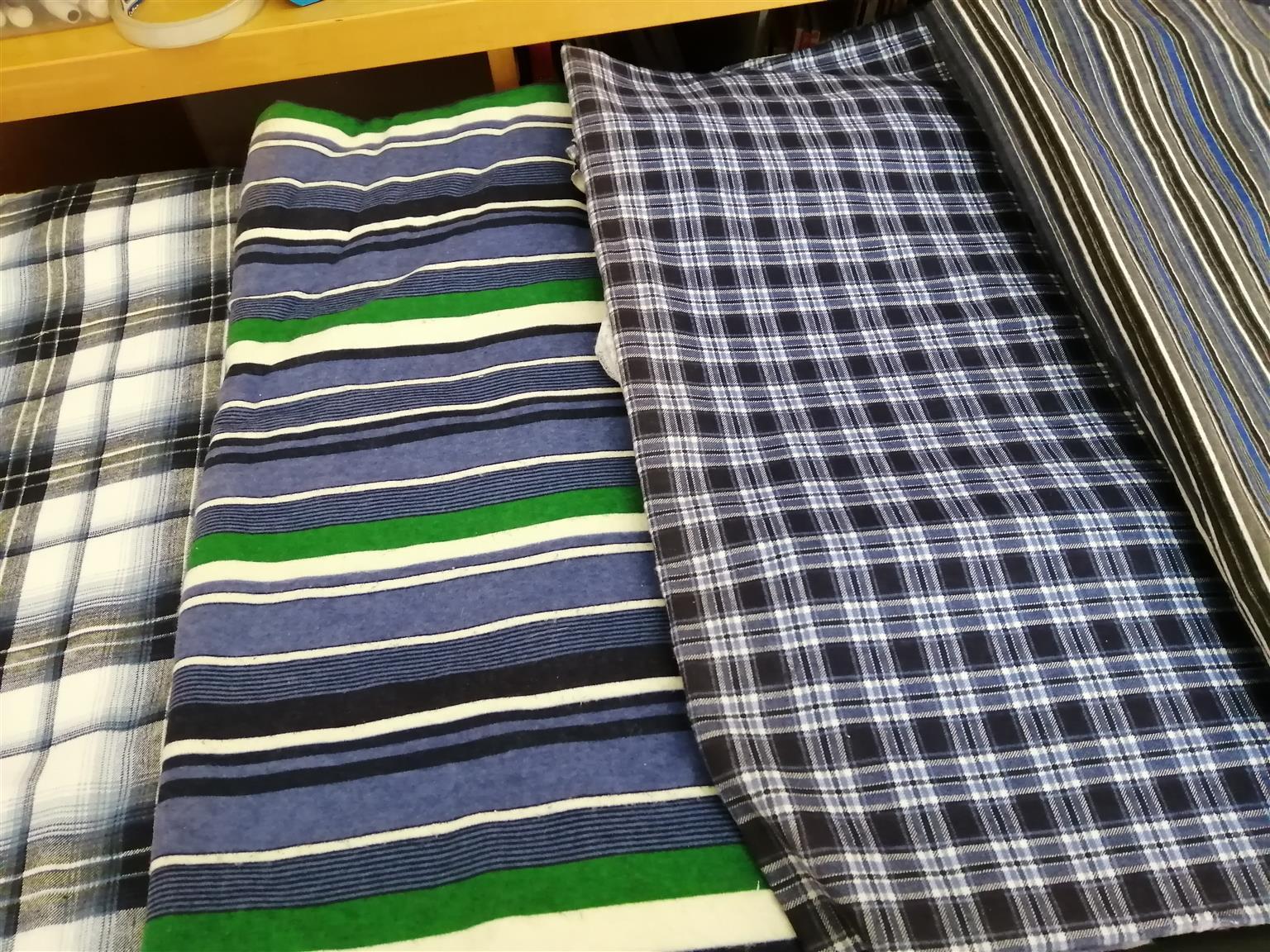 Meters of flannel material.