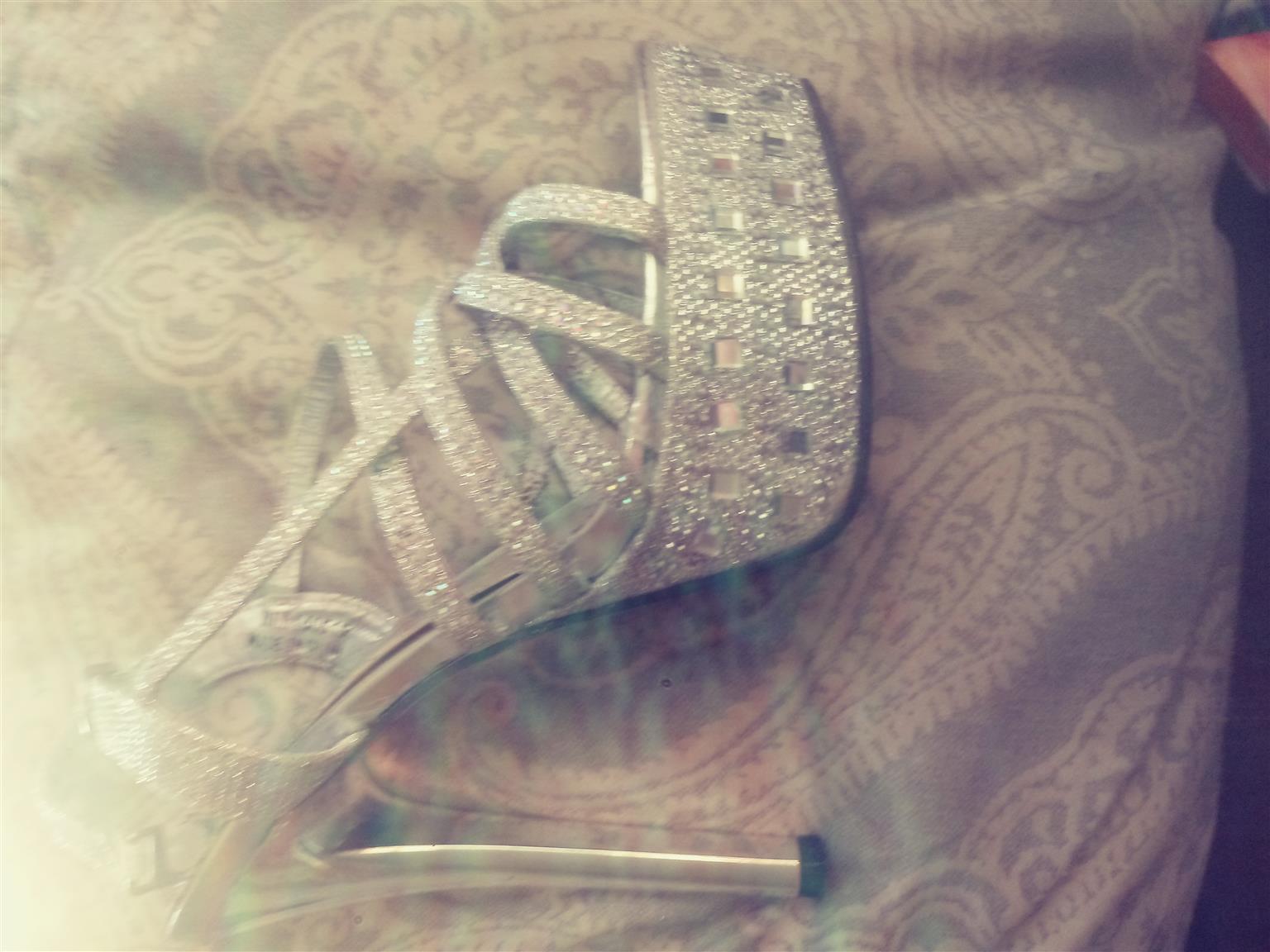 Sotto Silver diamante stiletto