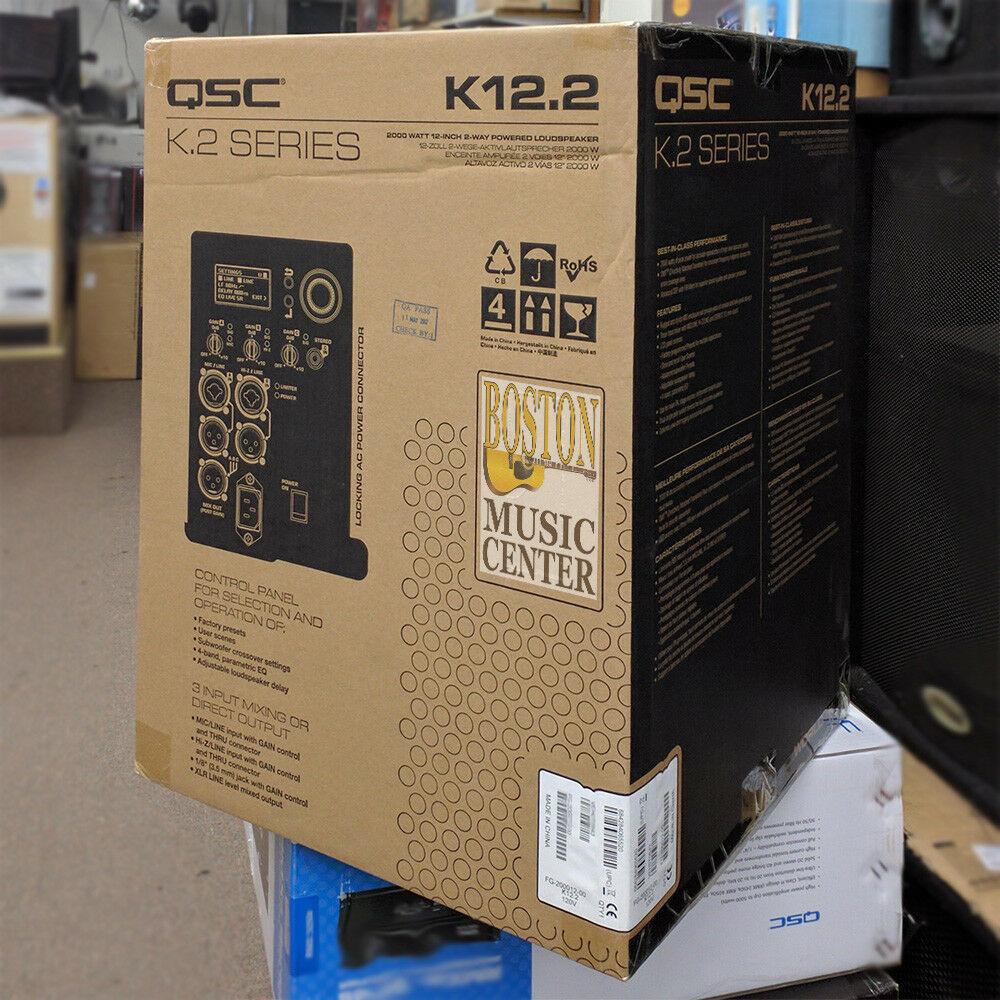 """For Sale Brand New QSC K12.2 K.2 Series Mint 12"""" 2000 Watt Powered Speaker"""