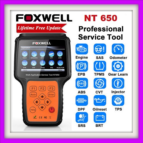 Car Scanner Foxwell NT650 OBD2 Car Diagnostic Tool ABS Airbag SAS EPB DPF  TPMS Oil Reset Injector Coding ODB2 Auto Scanner OBD 2 Automotive Scanner |