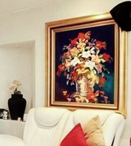 Very large Oil Painting with gold Frame - Near Midrand