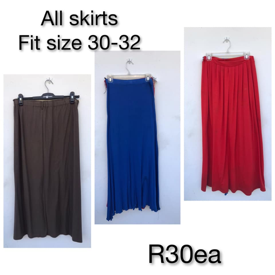 Long colored skirts