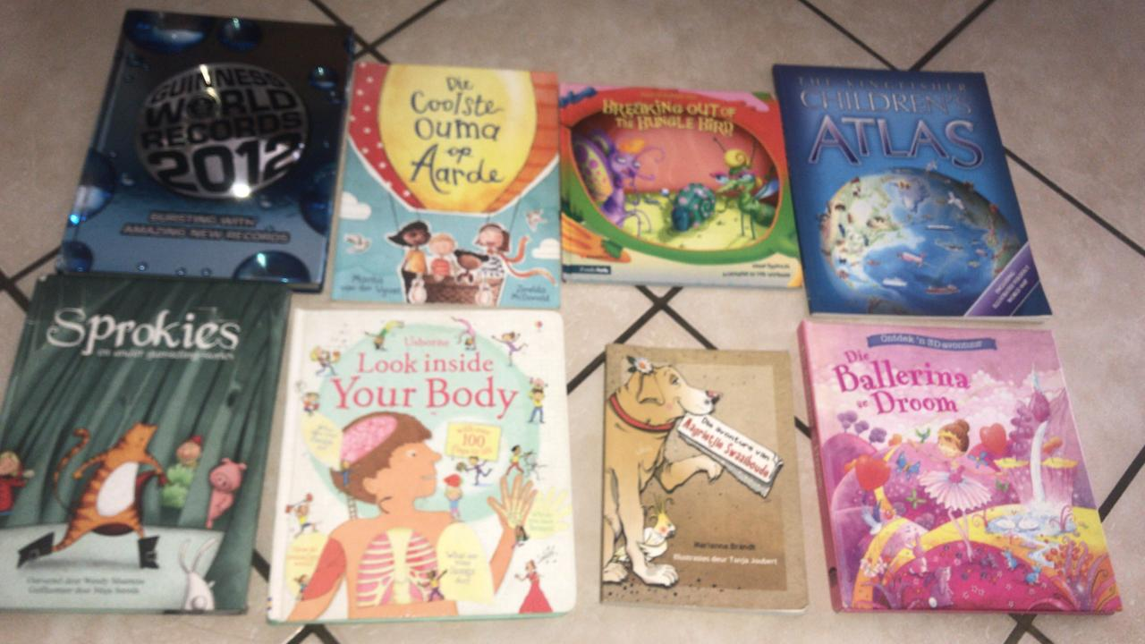 Childrens books for sale - 5 - 13 years.  English & Afrikaans