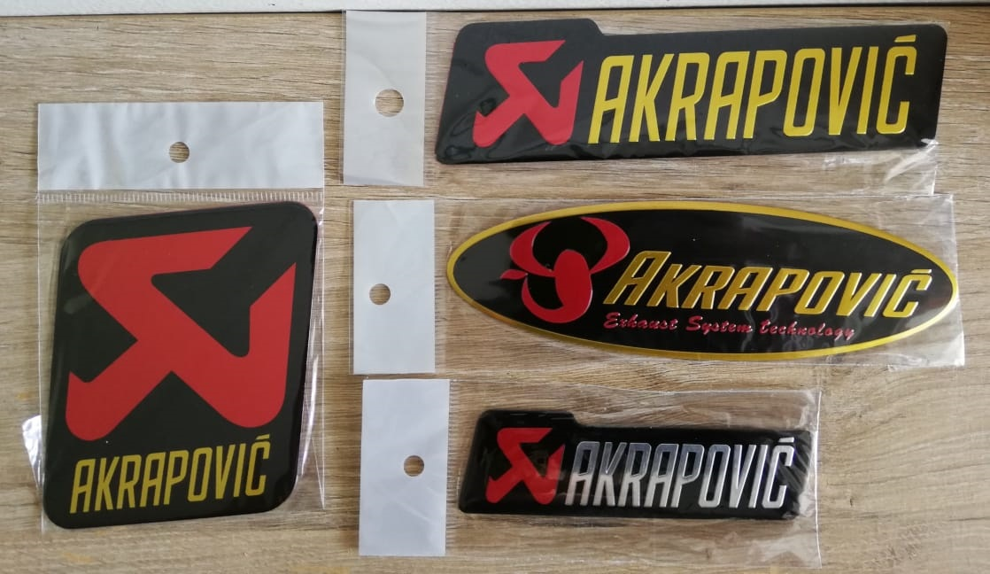 Excellent quality aluminium exhaust metal plate decals / stickers / badges.