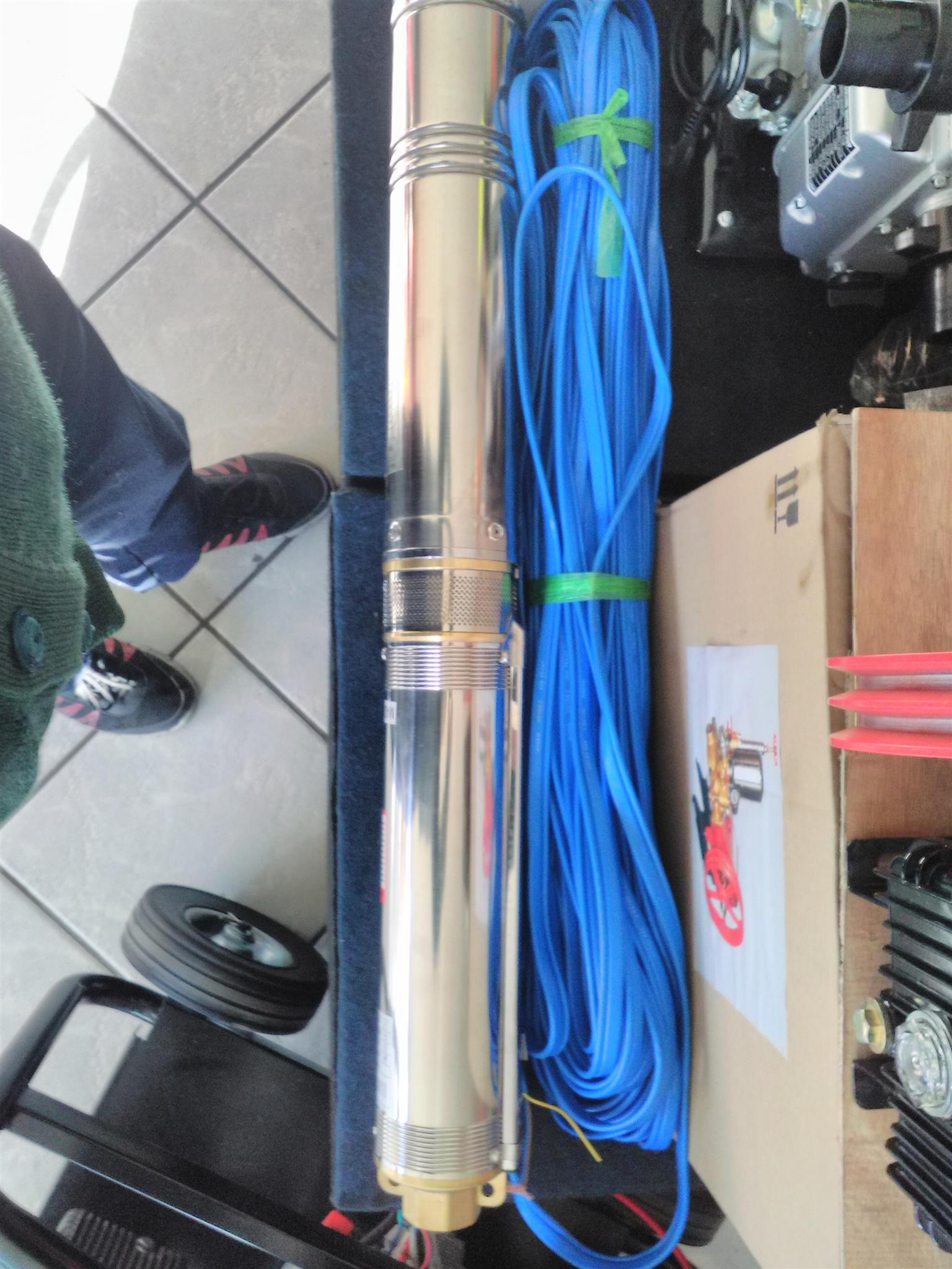 Magnum 0.37 Borehole Pumpwith cable and control box price incl vat