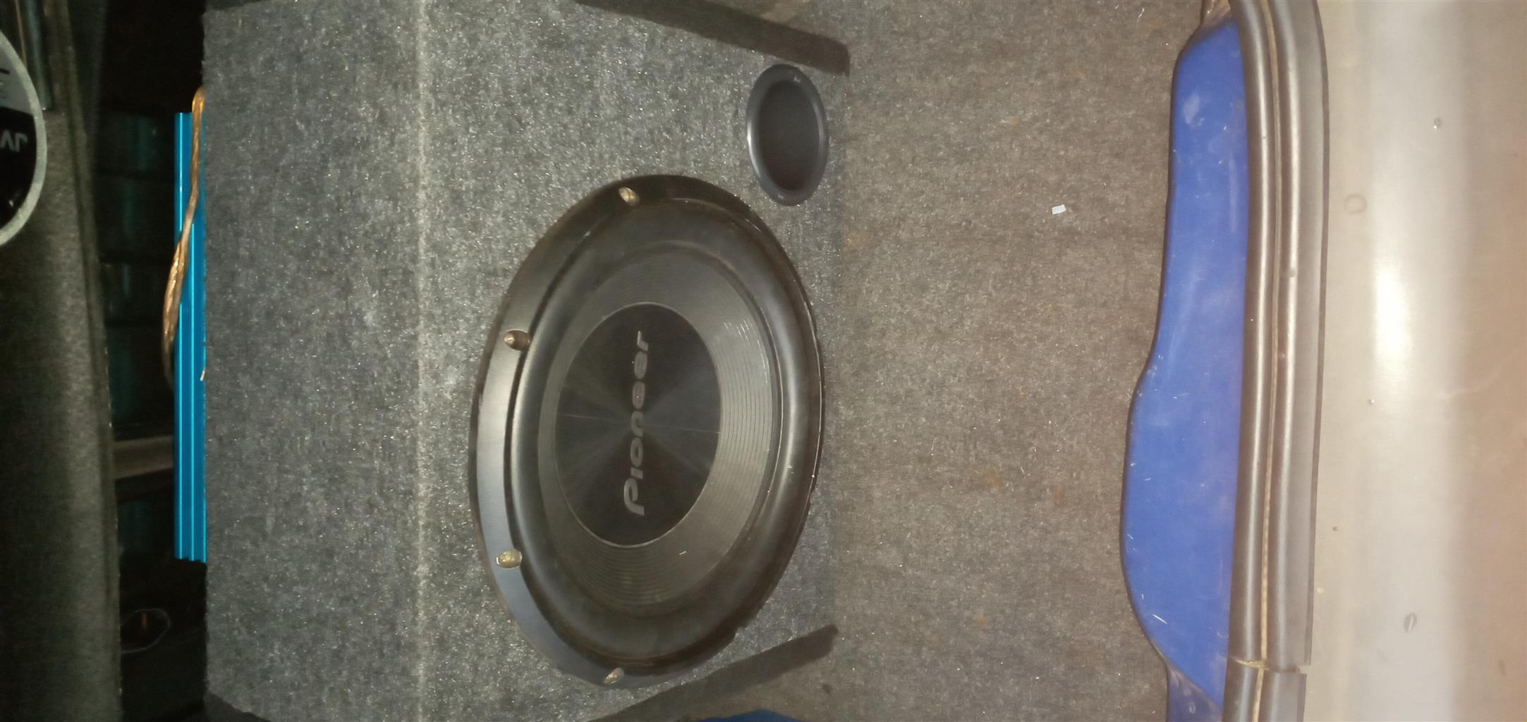 Pioneer sub and Targa Amp 1200W