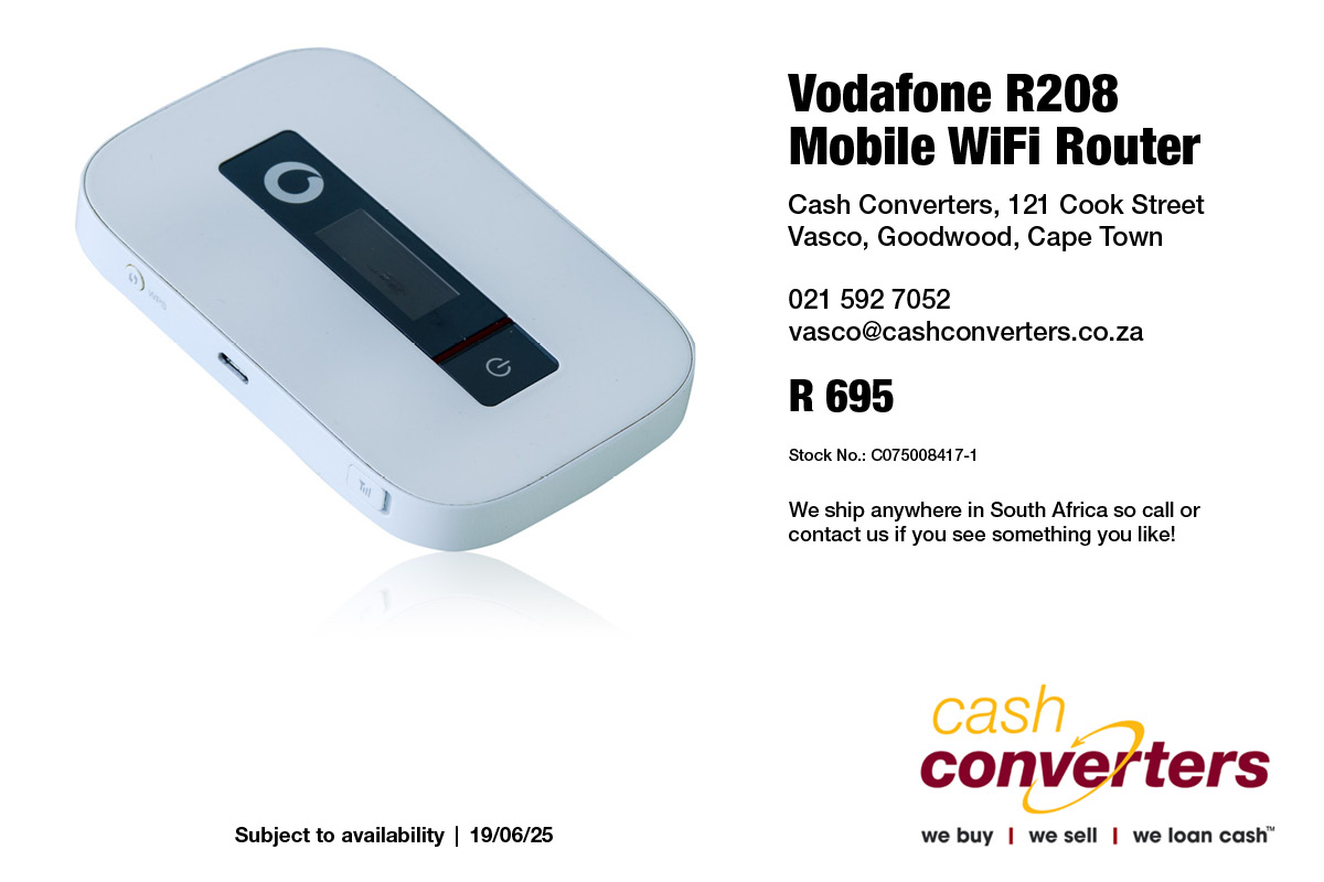 Vodafone R208 Mobile WiFi Router | Junk Mail