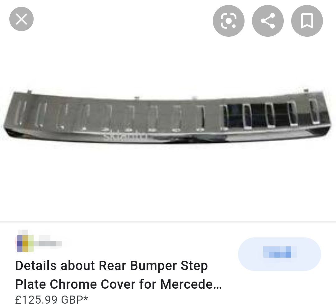 AMG Mercedes Chrome Cover Step Plate ( make me an offer )