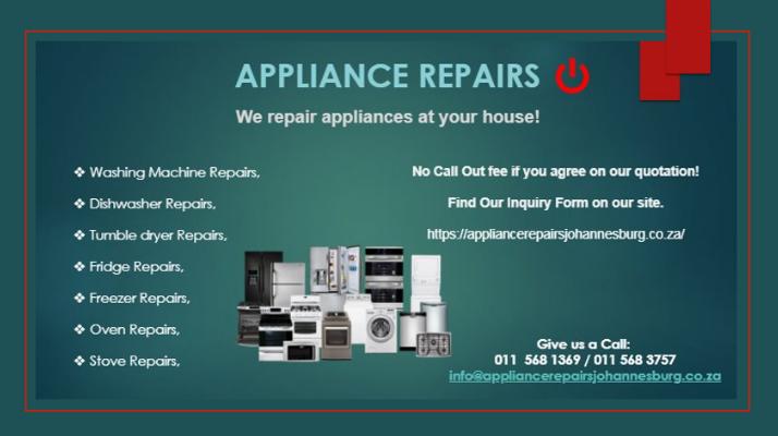 Appliance Repairs Johannesburg
