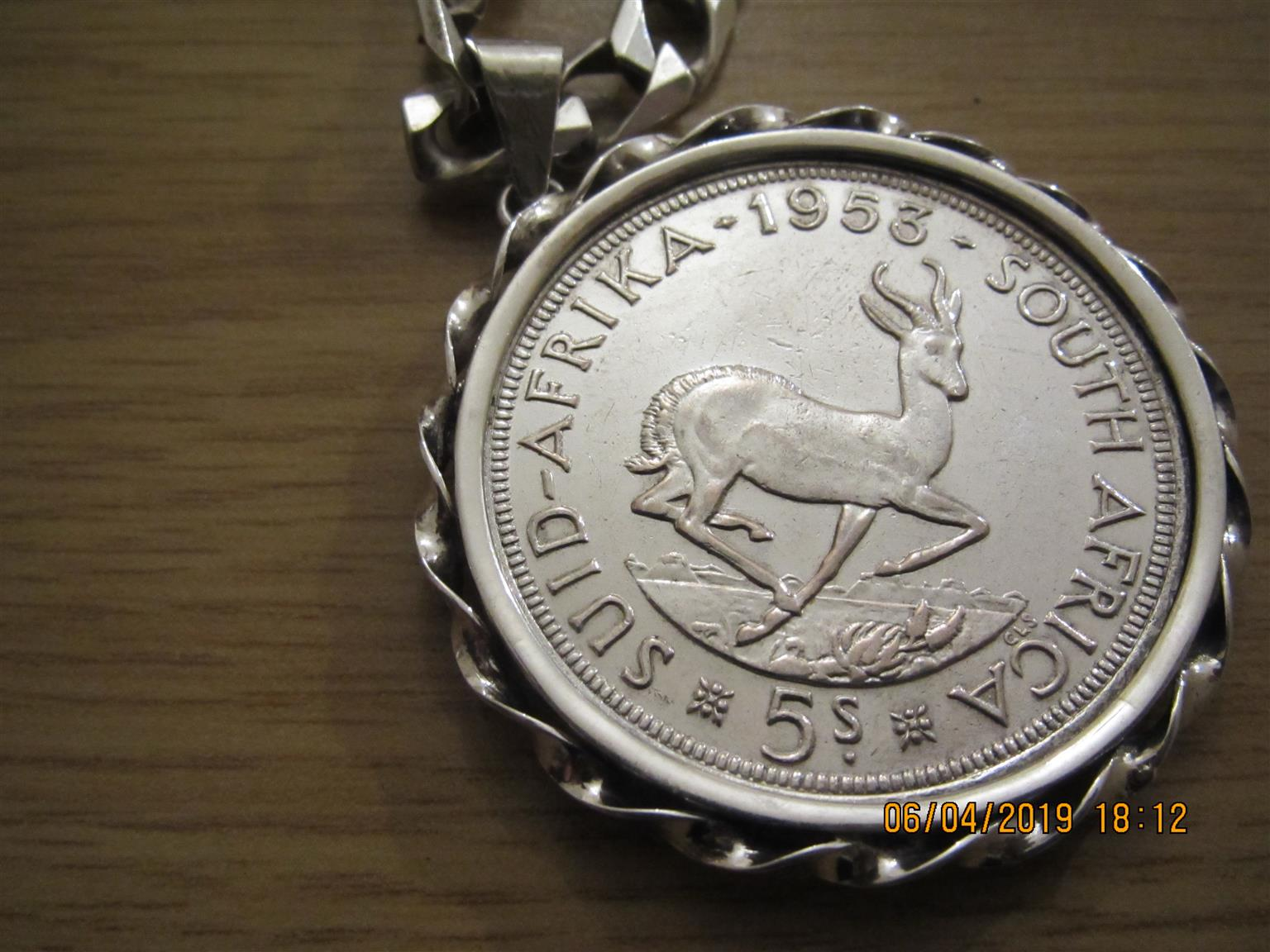 Sterling silver necklace with Coin