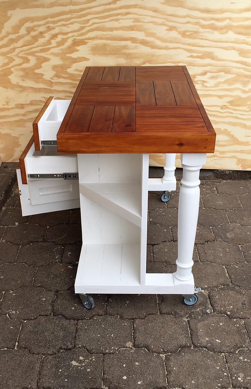 Kitchen Island Farmhouse Elegant series 1200 version 3 - Two tone