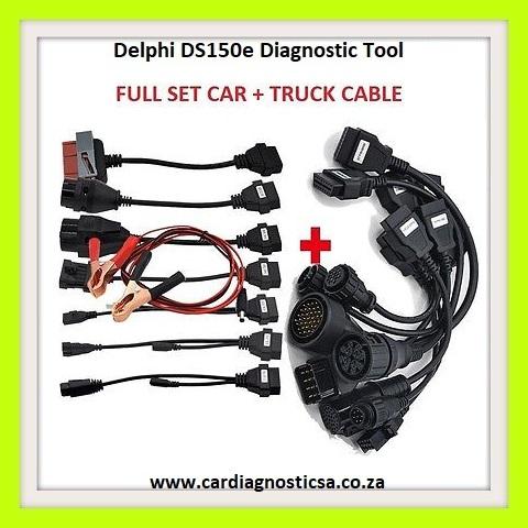Delphi DS150E Pro Diagnostic Tool Bluetooth + Car, Truck  Adapters