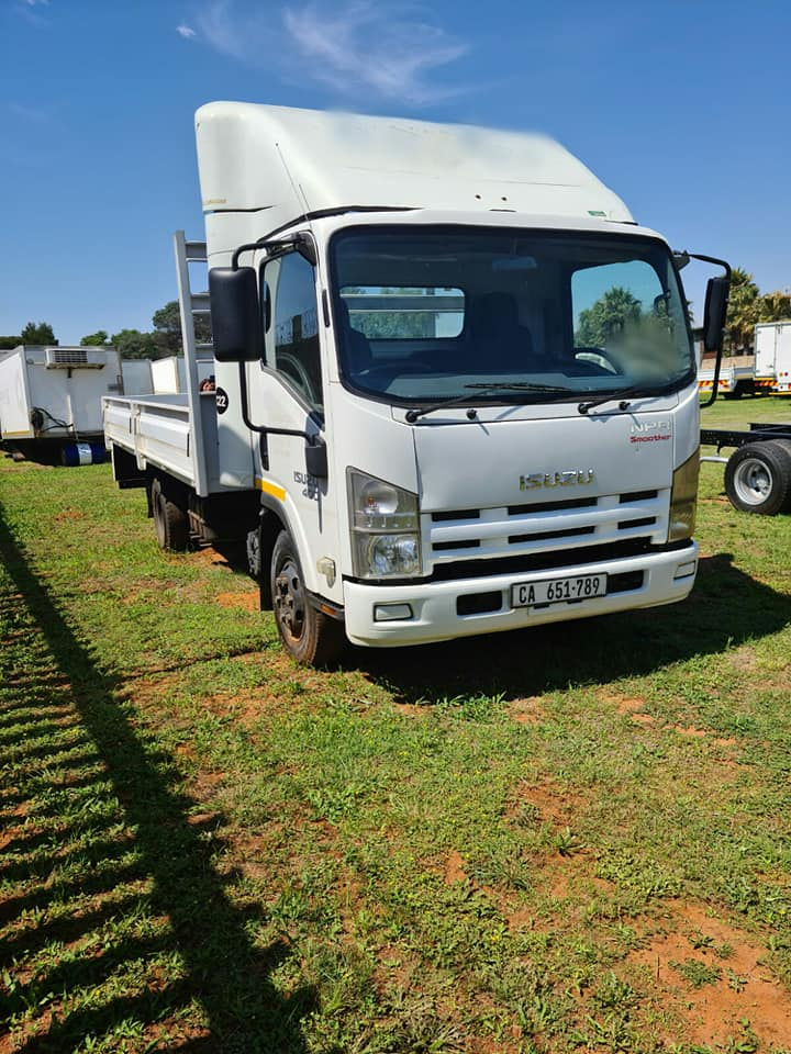 2013 Isuzu NPR400, Automatic dropside truck for sale