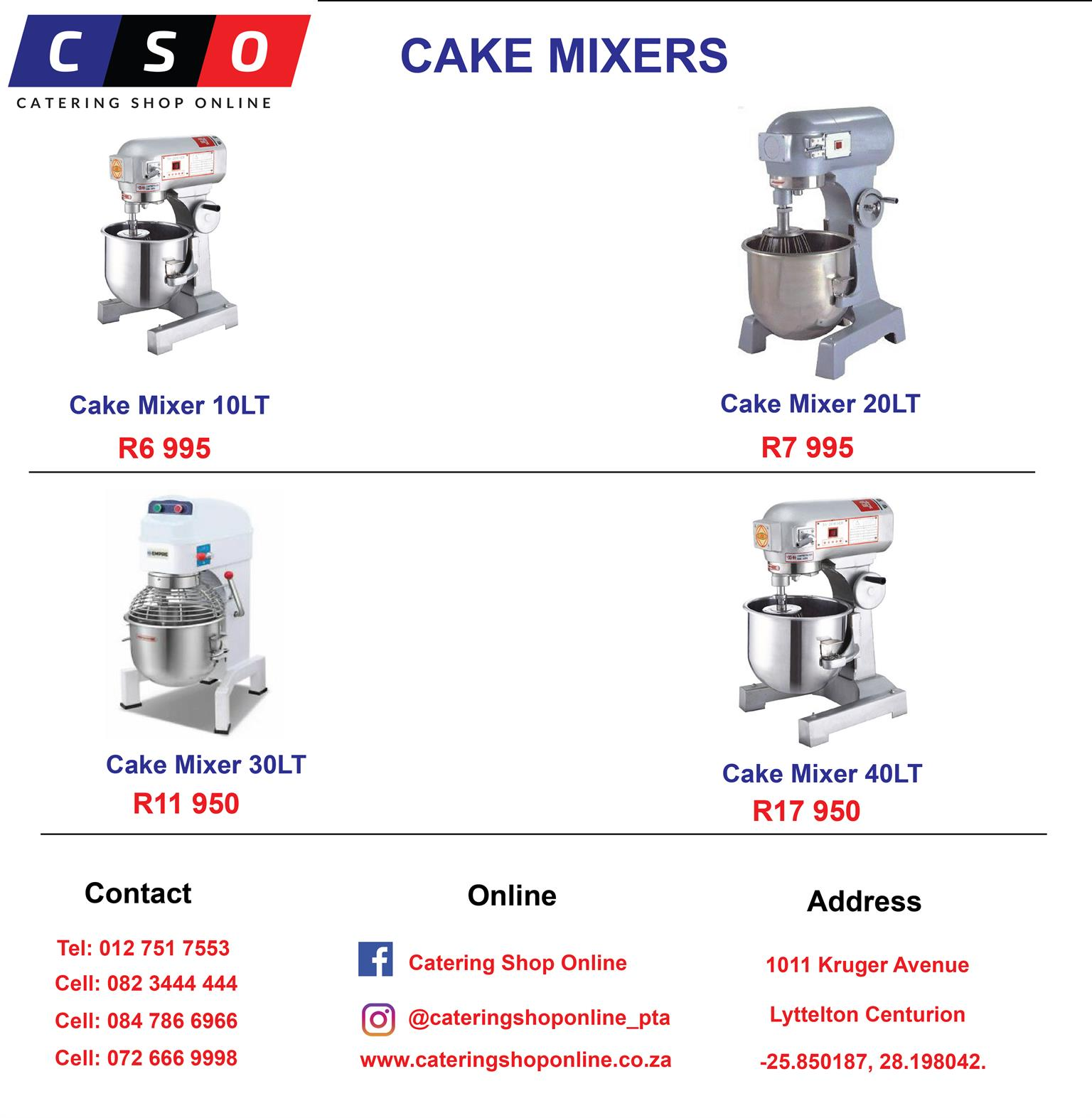 CAKE MIXERS AVAILABLE FOR SALE