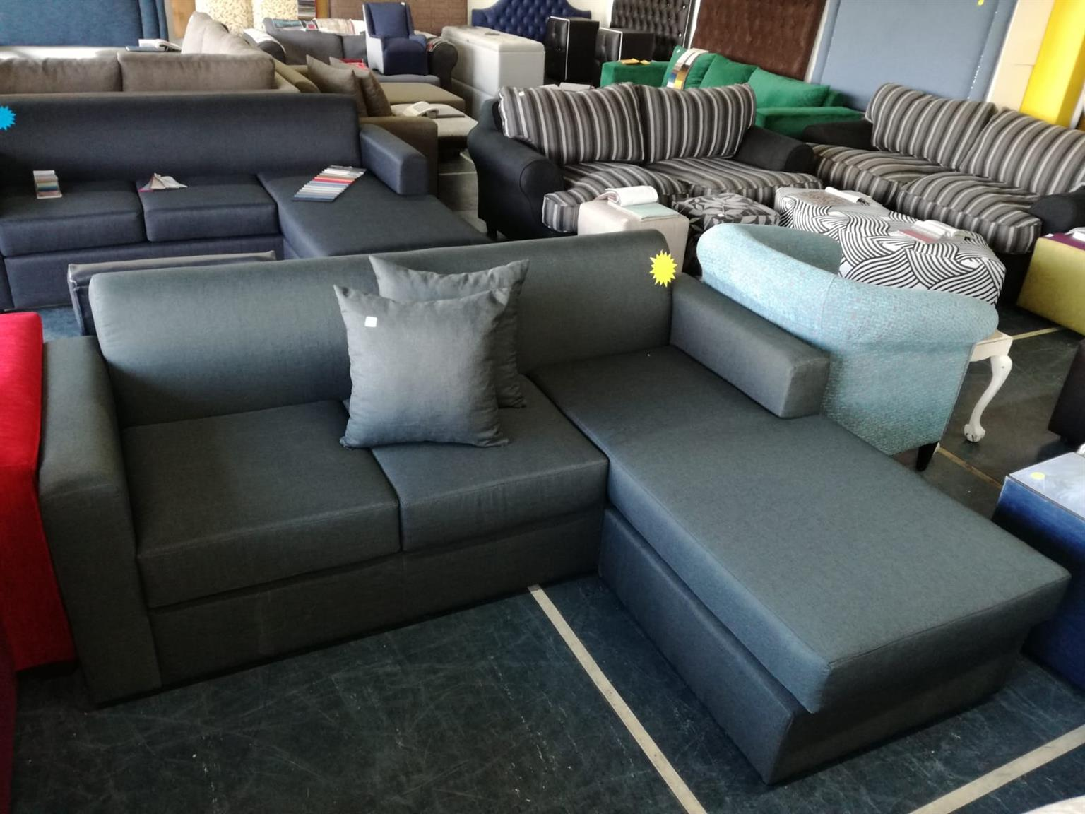 Budget friendly L-shaped couch