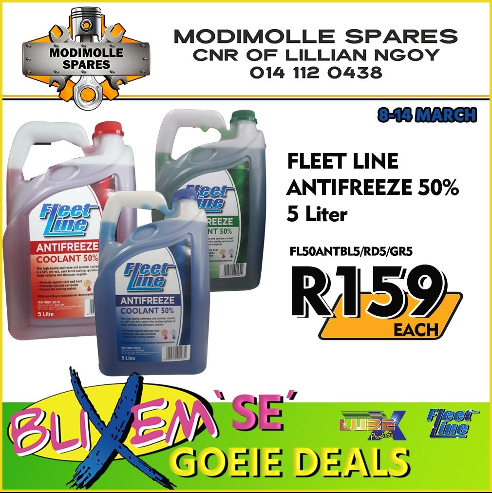 Fleet Line Antifreeze 50% 5 Liter at Modimolle Spares!