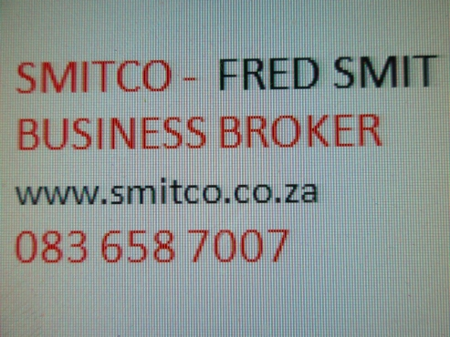 BUSINESS CONSULTANT :Let Fred Smit - SMITCO assist  desision to buy or sell.