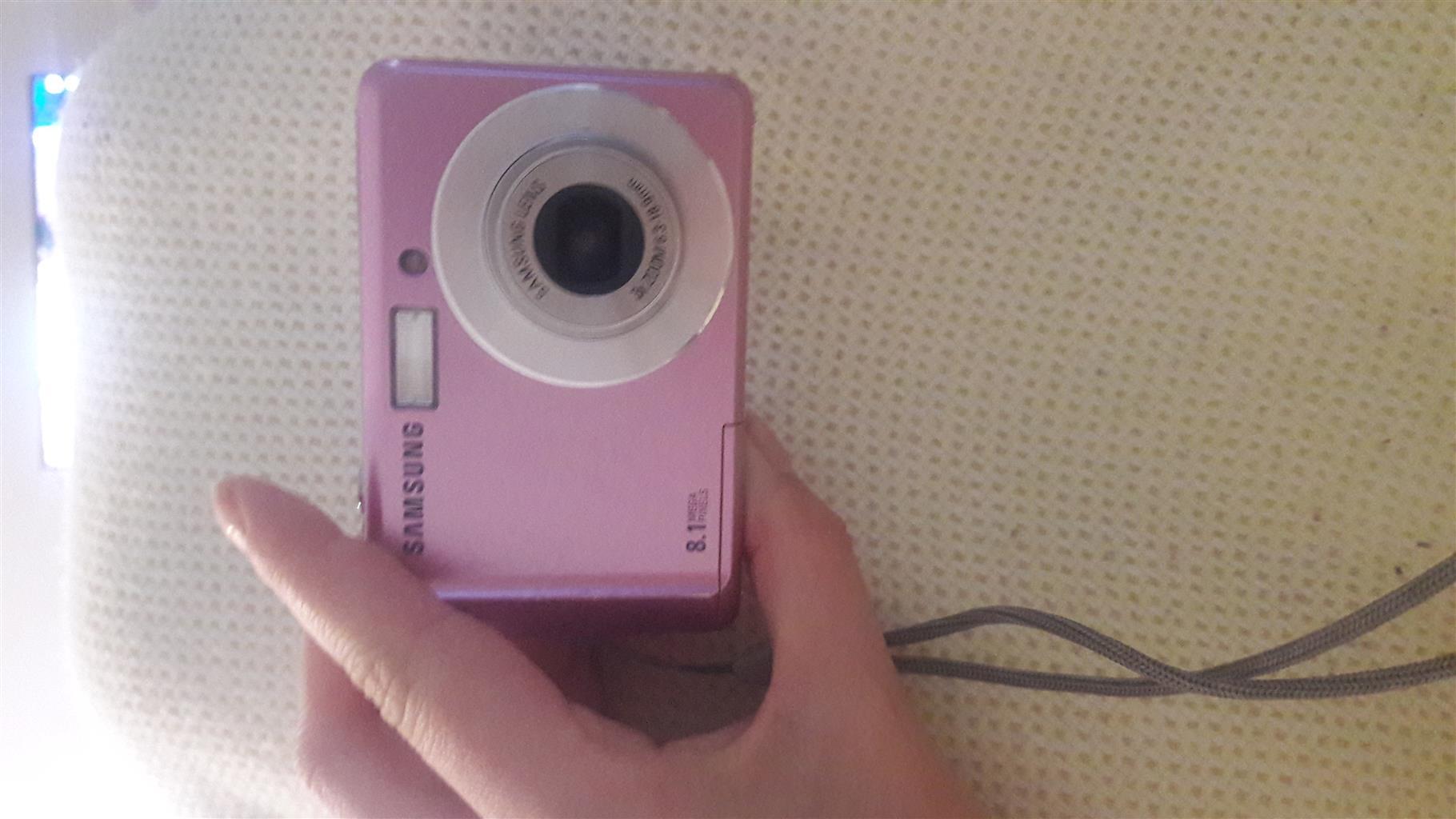 Pink samsung Camera