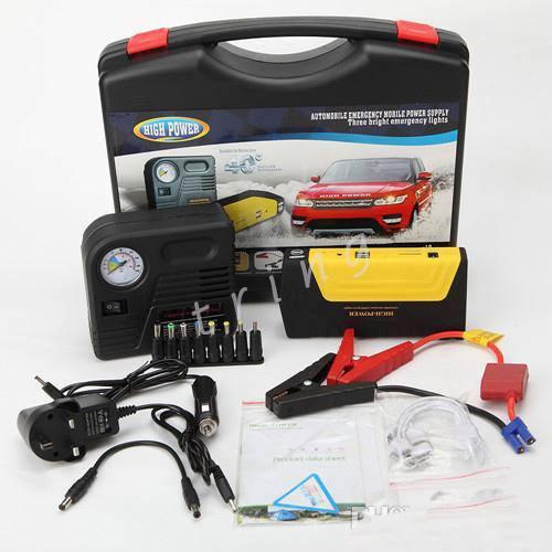 New - 12V/16V/19V -50800mah  car jump starter with compressor , power bank